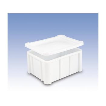 Kunststoff-Großbehälter PE - 140 l - glatter Boden - 800x600x405 mm - stapelbar