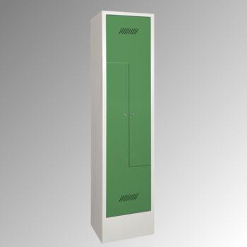 Z-Kleiderschrank m. Sockel - Höhe 185 cm - 2 Fächer - Drehriegel - lichtgrau/resedagrün online kaufen - Verwendung 0