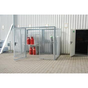 Gasflaschencontainer - für 78 220-mm-Flaschen - Türe und Dach - verzinkt online kaufen - Verwendung 3