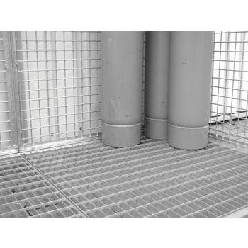 Gasflaschencontainer - für 78 220-mm-Flaschen - Türe und Dach - verzinkt online kaufen - Verwendung 5