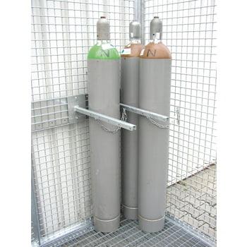 Gasflaschencontainer - für 78 220-mm-Flaschen - Türe und Dach - verzinkt online kaufen - Verwendung 6