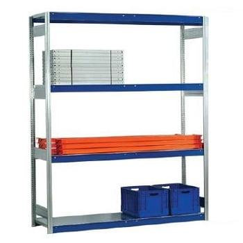 Weitspannregal - 2.000 x 2.570 x 400 mm (HxBxT) - 2,5 t - Grundregal - Stahlpaneele