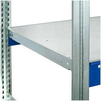 Weitspannregal - 2.500 x 2.570 x 600 mm (HxBxT) - 2,5 t - Anbauregal - Stahlpaneele online kaufen - Verwendung 2