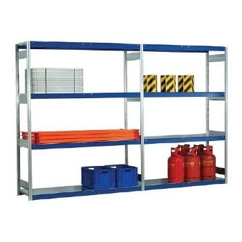 Weitspannregal - 2.500 x 2.570 x 600 mm (HxBxT) - 2,5 t - Anbauregal - Stahlpaneele online kaufen - Verwendung 3