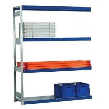 Weitspannregal - 2.500 x 2.570 x 600 mm (HxBxT) - 2,5 t - Anbauregal - Stahlpaneele online kaufen - Verwendung 0