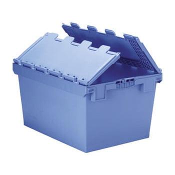 Euronorm-Mehrwegbehälter - 74 l - 440x400x610mm - Klappdeckel - blau