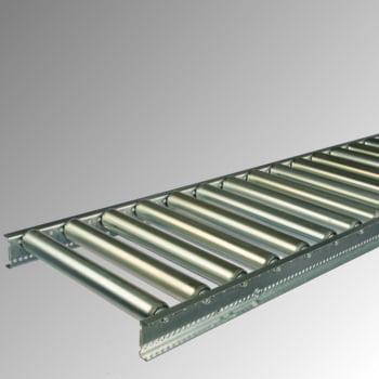 Schwerlast-Rollenbahn mit Stahlrollen - BxL 600 x 3.000 mm - Achsabstand 130 mm