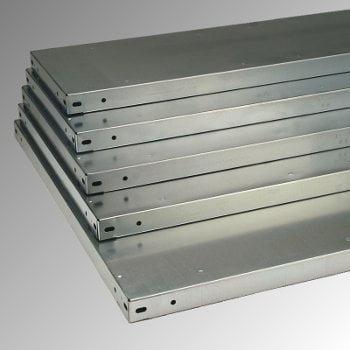 Fachbodenregal mit Tiefenriegel - 150 kg - (HxBxT) 2.500 x 1.005 x 600 mm - Anbauregal - Rahmen lichtgrau - Böden verzinkt online kaufen - Verwendung 6