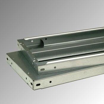 Fachbodenregal mit Tiefenriegel - 150 kg - (HxBxT) 2.500 x 1.005 x 600 mm - Anbauregal - Rahmen lichtgrau - Böden verzinkt online kaufen - Verwendung 7