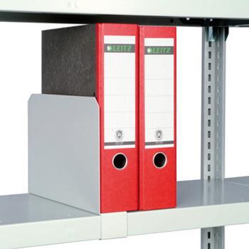 Fachbodenregal mit Tiefenriegel - 150 kg - (HxBxT) 2.500 x 1.005 x 600 mm - Anbauregal - Rahmen lichtgrau - Böden verzinkt online kaufen - Verwendung 9