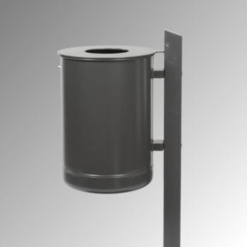 Abfallbehälter mit Pfosten - 35 l - anthrazitgrau online kaufen - Verwendung 2