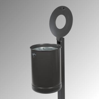 Abfallbehälter mit Pfosten - 35 l - anthrazitgrau online kaufen - Verwendung 3