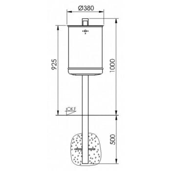 Abfallbehälter mit Pfosten - 35 l - anthrazitgrau online kaufen - Verwendung 5