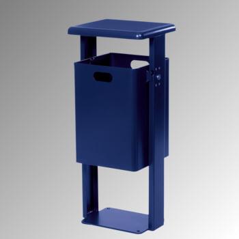 Stand-Abfallbehälter rechteckig - Vol. 40 l - mit Bodenplatte - kobaltblau/kobaltblau