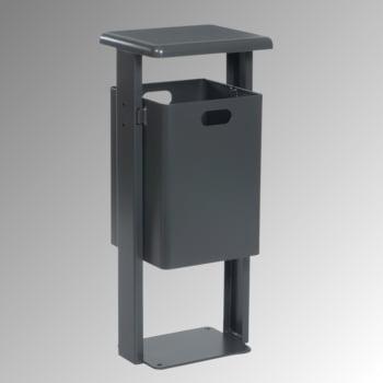Stand-Abfallbehälter rechteckig - Vol. 40 l - mit Bodenplatte - moosgrün/moosgrün