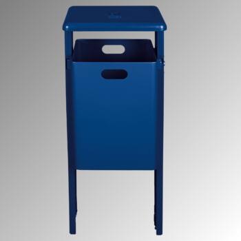 Stand-Abfallbehälter rechteckig - Vol. 40 l - zum Einbetonieren - Eisenglimmer/verzinkt