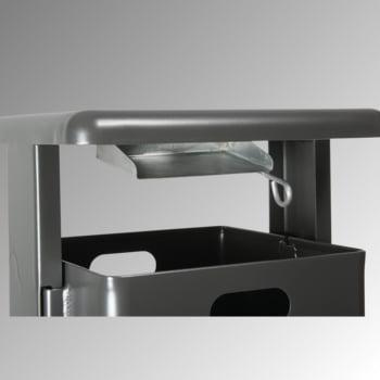 Stand-Abfallbehälter rechteckig - Vol. 40 l - mit Ascher - mit Bodenplatte - anthrazitgrau online kaufen - Verwendung 2