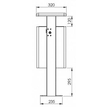 Stand-Abfallbehälter rechteckig - Vol. 40 l - mit Ascher - mit Bodenplatte - anthrazitgrau online kaufen - Verwendung 4