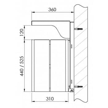 Abfallbehälter rechteckig, mit Haube - Wand- oder Pfostenbefestigung - mit Ascher - 40 l - gelborange/verzinkt online kaufen - Verwendung 5