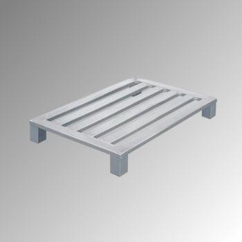 Aluminium Flachpalette - Eckfüße - Breite 800 mm - Tragkraft 600 kg - Zarges