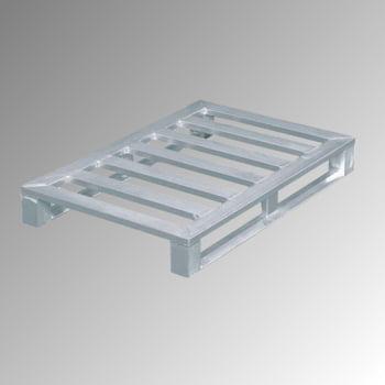 Aluminium Flachpalette - Kufen und Eckfüße - Breite 800 mm - Tragkraft 1.500 kg - Zarges