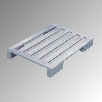 Aluminium Flachpalette - lange Eckfüße - Breite 800 mm - Tragkraft 1.000 kg - Zarges