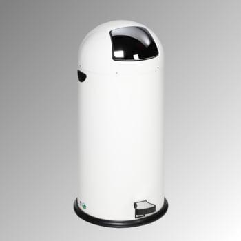 Abfalleimer - 52 l - mit Fußpedal - verkehrsweiß - mit Einwurfklappe - Mülleimer