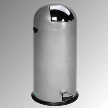 Abfalleimer - 52 l - mit Fußpedal - silber - mit Einwurfklappe - Mülleimer