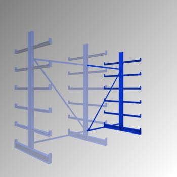 Kragarmregal - 200 kg - 2.000 x 1.250 x 1.100 mm - doppelseitig - Anbauregal