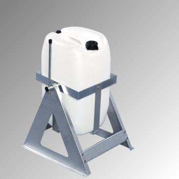 Fass Ausgießer, Abfüllblock, für 25 Liter Behälter - Wandmontage möglich - Kanister Kipper