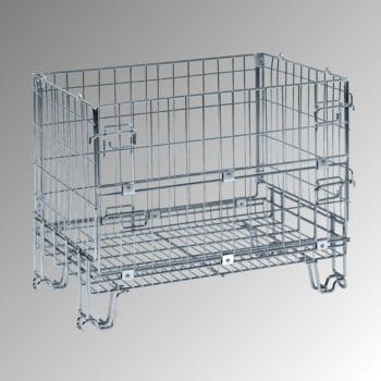 Gitterbox - 680 x 860 x 580 mm (HxBxT) - Tragkraft 300 kg - stapelbar - verzinkt