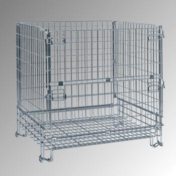 Gitterbox - 1.180 x 1.200 x 1.000 mm (HxBxT) - Tragkraft 1.000 kg - stapelbar - verzinkt