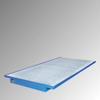 Regalwanne m. Gitterrost - (BxT) 3.550 x 1.250 mm - Volumen 260 l - lichtblau
