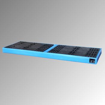 Polyethylen-Auffangwanne mit PE-Palette - 300 l Volumen - 150 x 2.610 x 895 mm (HxBxT)