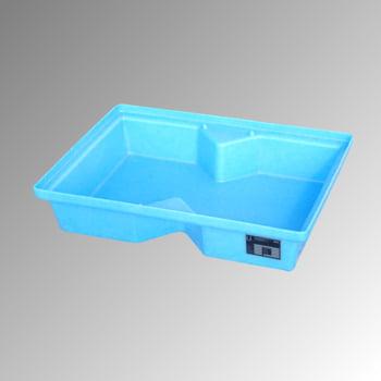Polyethylen-Kleingebindewanne (PE) für Paletten - 800 x 600 mm - 40 l Volumen
