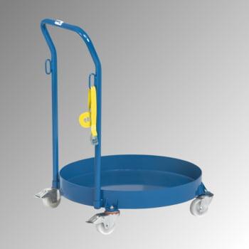 Fetra - Fassroller für 200 l Fässer - 250 kg - öldicht - Rohrschiebebügel