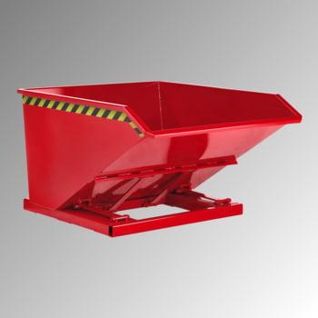 Muldenkippbehälter - Volumen 750 l - Traglast 1.200 kg - feuerrot