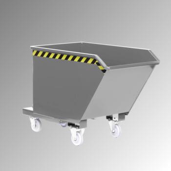 Muldenkippbehälter - 1.500,00 l Volumen - Traglast 2.000 kg - lichtgrau