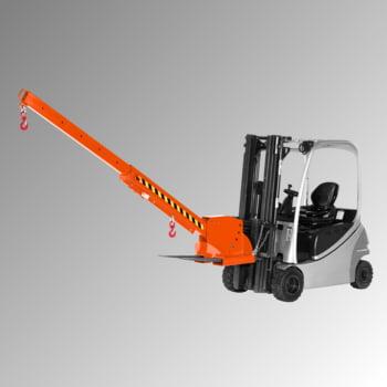 Kranarm für Gabelstapler - max. Traglast 3.000 kg - höhenverstellbar - reinorange
