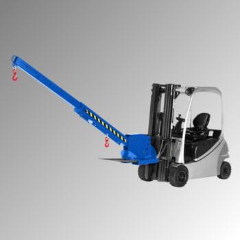 Kranarm für Gabelstapler - max. Traglast 3.000 kg - höhenverstellbar - enzianblau