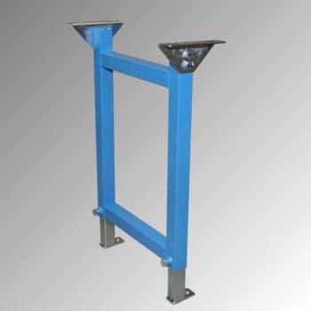 Ständer für 900 mm Schwerlastrollenbahn - (H) 550 - 800 mm