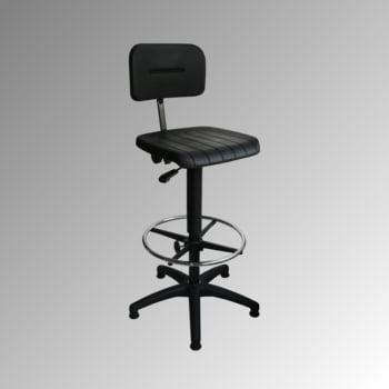 arbeitsstuhl mit fu ring b rostuhl sitz sitzh he und r ckenlehne w hlbar ebay. Black Bedroom Furniture Sets. Home Design Ideas