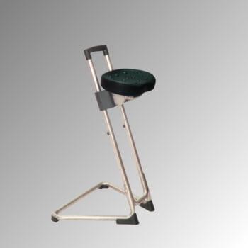 ESD Stehhilfe - antistatisch - Sitzhöhe 600 bis 850 mm - Sitz PU schwarz - Gestell Edelstahl