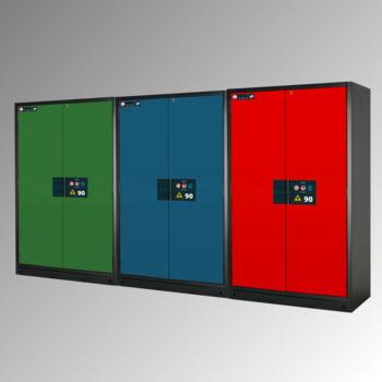 Gefahrstoffschrank - 1.953x1.193x615 mm - 3 Fachböden - Lochblech - Front reinweiß online kaufen - Verwendung 2