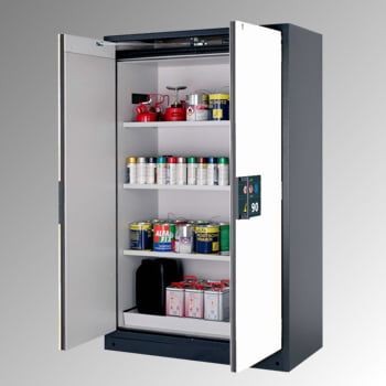 Gefahrstoffschrank - 1.953x1.193x615 mm - 3 Fachböden - Lochblech - Front reinweiß online kaufen - Verwendung 0