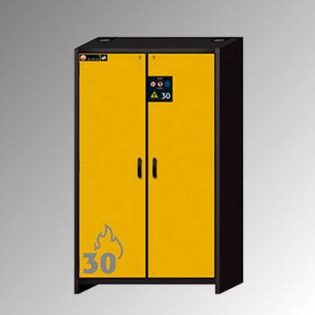 Transportabler Sicherheitsschrank Typ 30 - ca. 2 x 1,2 x 0,6 m - 3 Fachböden - 1 Bodenauffangwanne - mit Lochblech - goldgelb - Stahl