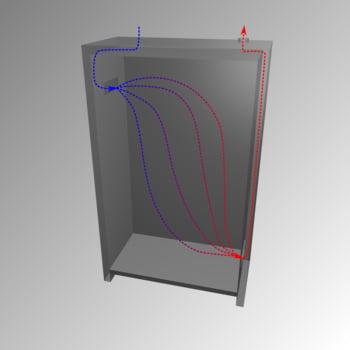 Gefahrstoffschrank - 1.953x599x615 mm - 3 Fachböden - Stahl-Einrichtung - Türanschlag Links - Lochblechboden - Front verkehrsrot online kaufen - Verwendung 3