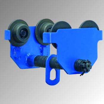 Handlaufkatze - Tragkraft 2.000 kg - Stahlguss - blau - Laufkatze