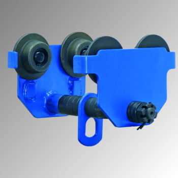 Handlaufkatze - Tragkraft 5.000 kg - Stahlguss - blau - Laufkatze