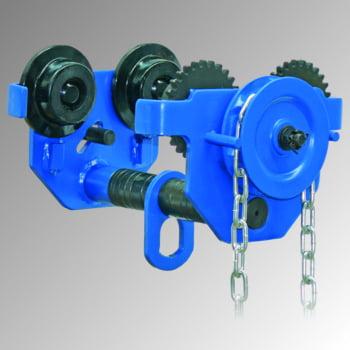 Handlaufkatze - Tragkraft 500 kg - mit Handkette - Stahlguss - blau - Laufkatze